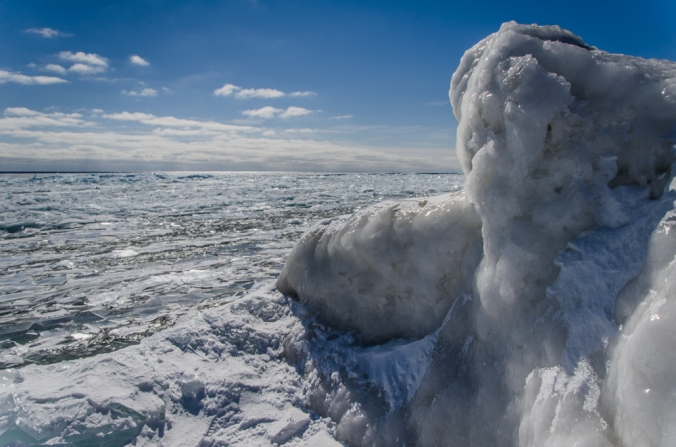 Overlooking the Frozen Lake